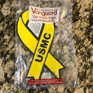 USMC yellow ribbon car magnet